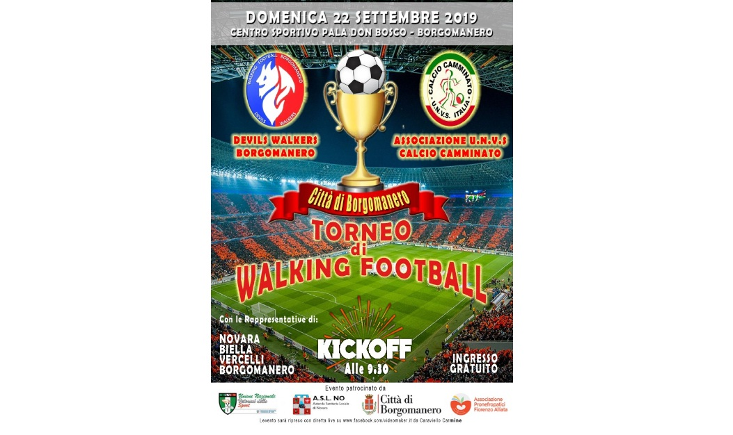 Torneo di Walking Football – Settembre 2019